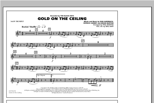 Gold On The Ceiling - 3rd Bb Trumpet Partition Digitale