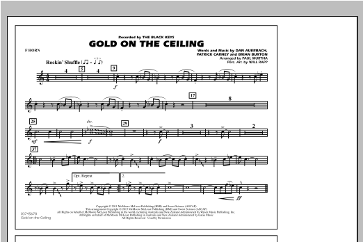 Gold On The Ceiling - F Horn Sheet Music