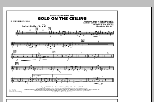 Gold On The Ceiling - Bb Horn/Flugelhorn Sheet Music