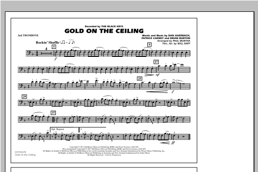 Gold On The Ceiling - 2nd Trombone Sheet Music