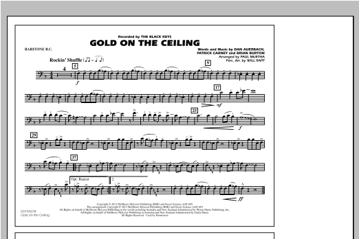 Gold On The Ceiling - Baritone B.C. Partituras Digitales