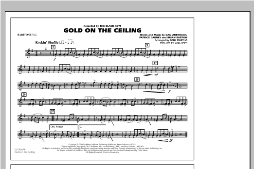 Gold On The Ceiling - Baritone T.C. Digitale Noten