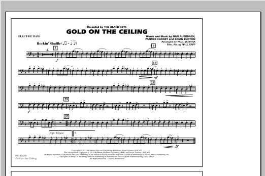 Gold On The Ceiling - Electric Bass Sheet Music