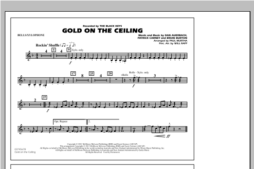 Gold On The Ceiling - Bells/Xylophone Sheet Music
