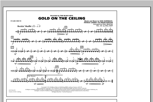 Gold On The Ceiling - Snare Drum Sheet Music