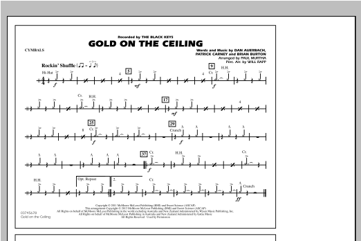 Gold On The Ceiling - Cymbals Sheet Music