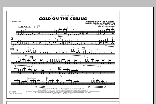 Gold On The Ceiling - Quad Toms Sheet Music