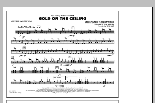 Gold On The Ceiling - Multiple Bass Drums Sheet Music