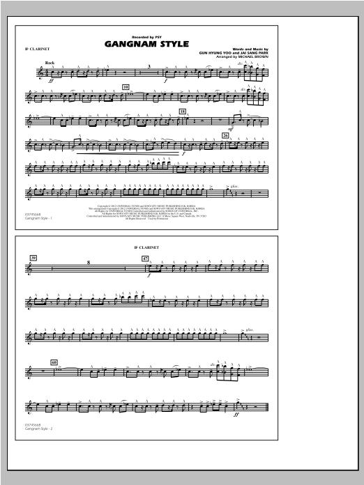 Gangnam Style - Bb Clarinet Sheet Music