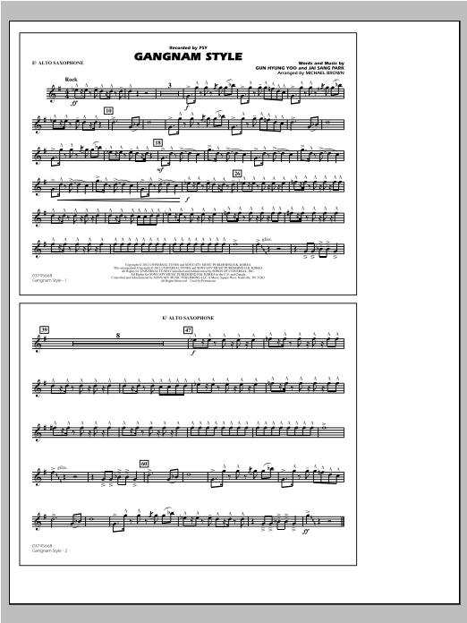 Gangnam Style - Eb Alto Sax Sheet Music