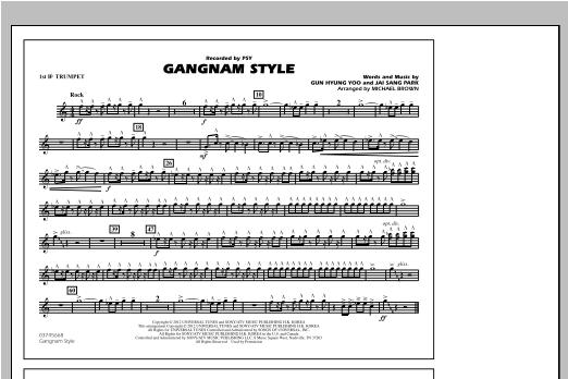 Gangnam Style - 1st Bb Trumpet Sheet Music