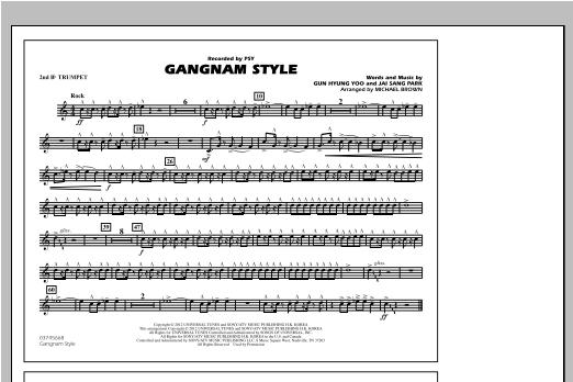 Gangnam Style - 2nd Bb Trumpet Sheet Music