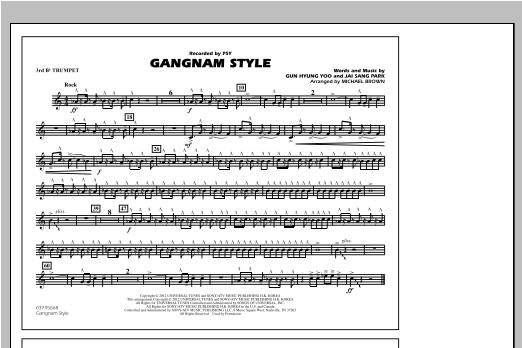 Gangnam Style - 3rd Bb Trumpet Sheet Music