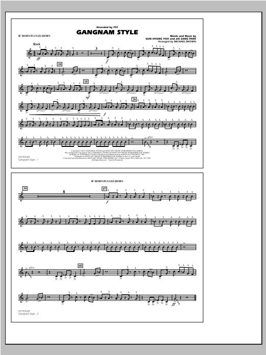 Gangnam Style - Bb Horn/Flugelhorn Sheet Music