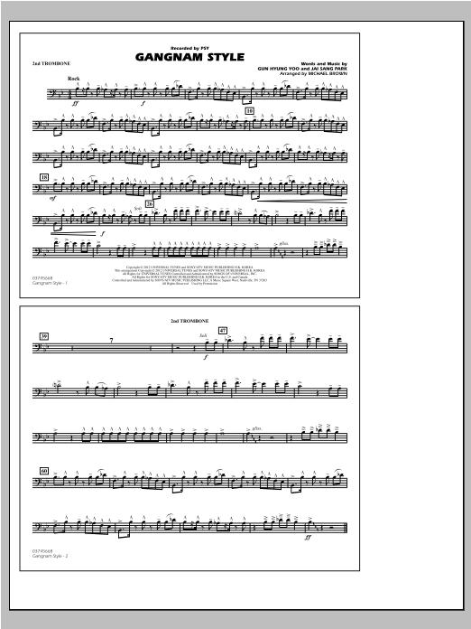 Gangnam Style - 2nd Trombone Sheet Music