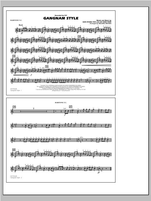 Gangnam Style - Baritone T.C. Sheet Music