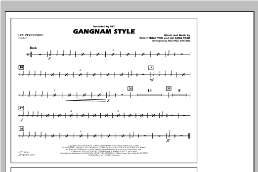 Gangnam Style - Aux Percussion Sheet Music
