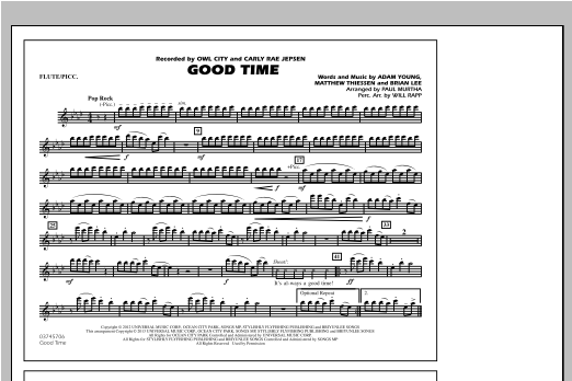 Good Time - Flute/Piccolo Sheet Music