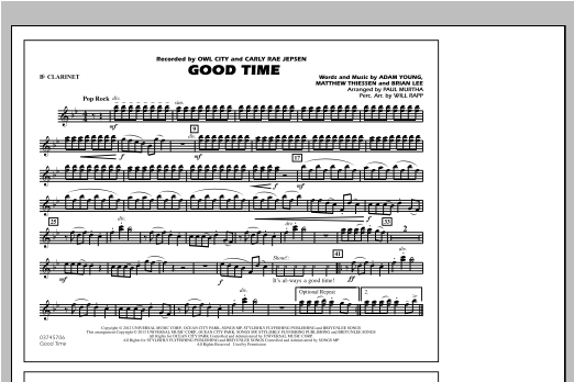 Good Time - Bb Clarinet Sheet Music