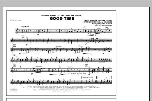 Good Time - Eb Alto Sax Sheet Music