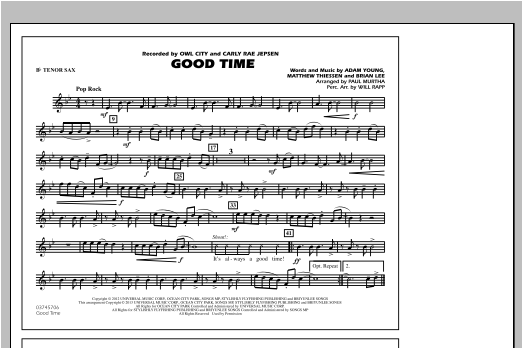 Good Time - Bb Tenor Sax Partituras Digitales