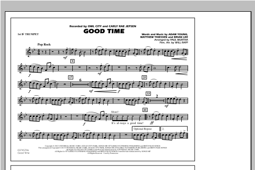 Good Time - 1st Bb Trumpet Sheet Music