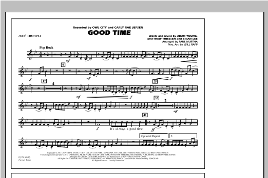 Good Time - 3rd Bb Trumpet Sheet Music