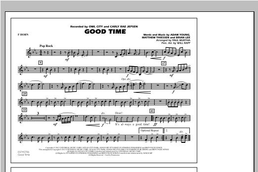 Good Time - F Horn Sheet Music