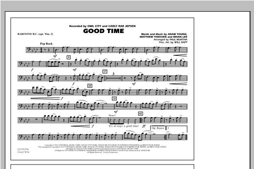 Good Time - Baritone B.C. (Opt. Tbn. 2) Sheet Music