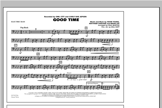 Good Time - Electric Bass Sheet Music
