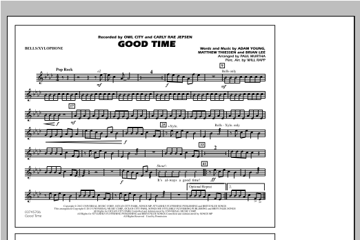 Good Time - Bells/Xylophone Sheet Music