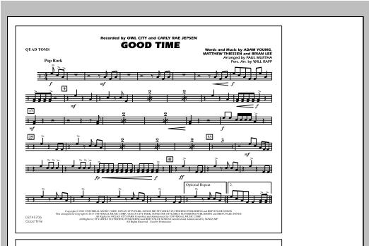 Good Time - Quad Toms Sheet Music