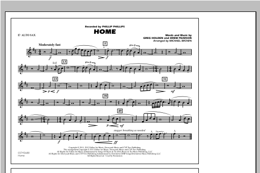 Home - Eb Alto Sax Sheet Music