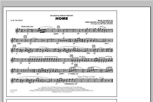 Home - 1st Bb Trumpet Sheet Music