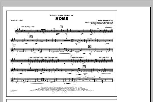 Home - 3rd Bb Trumpet Sheet Music