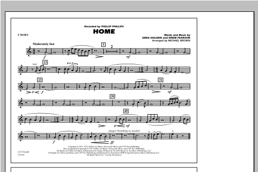 Home - F Horn Sheet Music