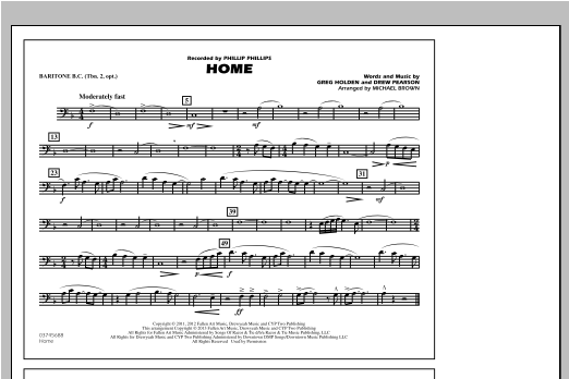 Home - Baritone B.C. (Opt. Tbn. 2) Sheet Music