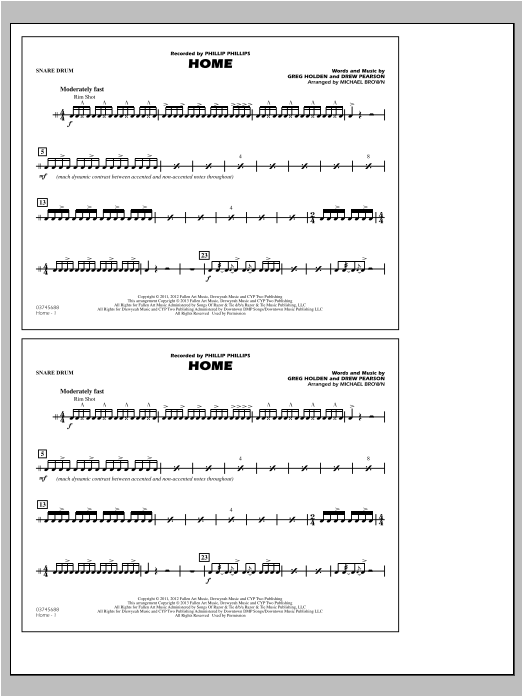 Home - Snare Drum Sheet Music