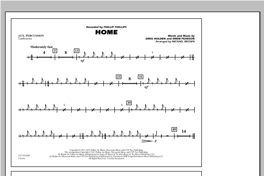 Home - Aux Percussion Sheet Music