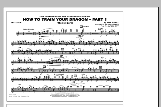 How To Train Your Dragon Part 1 - Flute/Piccolo Sheet Music