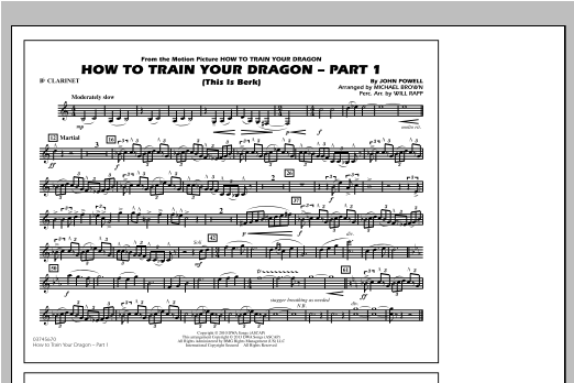 How To Train Your Dragon Part 1 - Bb Clarinet Sheet Music
