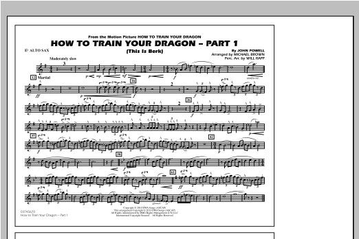 How To Train Your Dragon Part 1 - Eb Alto Sax Sheet Music