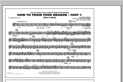 How To Train Your Dragon Part 1 - Eb Baritone Sax Sheet Music