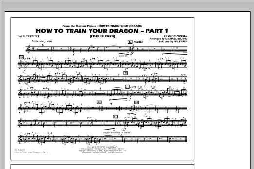 How To Train Your Dragon Part 1 - 2nd Bb Trumpet Sheet Music
