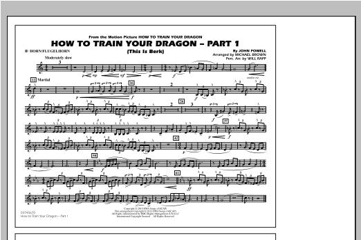 How To Train Your Dragon Part 1 - Bb Horn/Flugelhorn Sheet Music