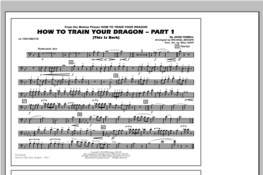 How To Train Your Dragon Part 1 - 1st Trombone Sheet Music