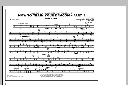 How To Train Your Dragon Part 1 - 2nd Trombone Sheet Music