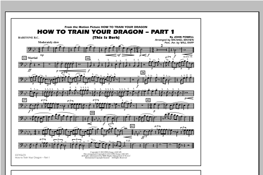 How To Train Your Dragon Part 1 - Baritone B.C. Sheet Music