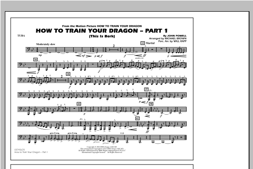 How To Train Your Dragon Part 1 - Tuba Sheet Music