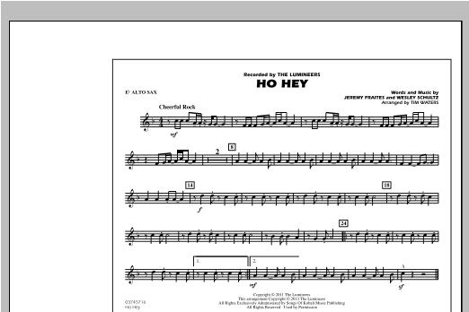 Ho Hey - Eb Alto Sax Sheet Music